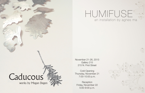 "in concurrence with ""Caducous,"" works by Megan Degen (megandegen.com)"