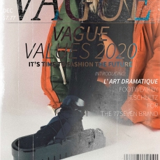 (Magazine cover mock-up of overshoe by student)
